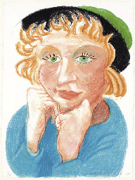Celia with Green Hat (T. 274)