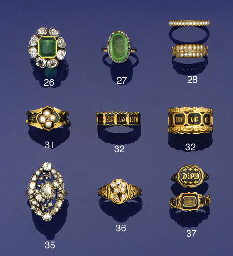 Two 19th century gold and blac