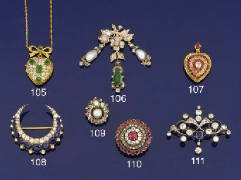 A 19th century gold, diamond a