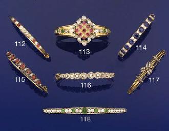 A Victorian diamond and gem-se