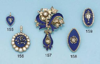 A 19th century gold, diamond,