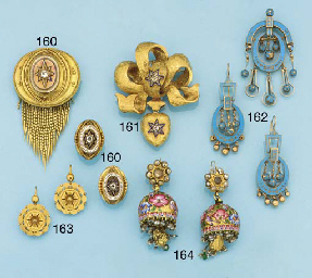 A pair of late 19th gold earpe