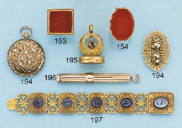 A 19th century gold presentati