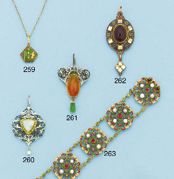 A Victorian gold, gem and enam
