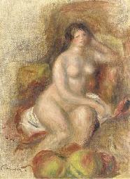 Femme nue et pommes
