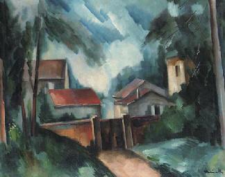 Paysage aux maisons