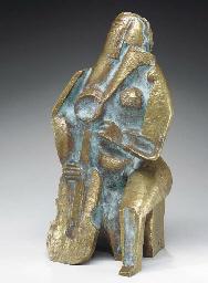 Femme assise au luth