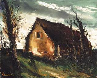 La ferme sous l'orage