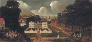 View of a country house, besid