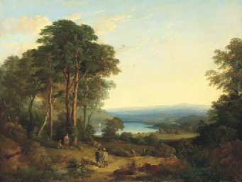 An extensive wooded landscape,