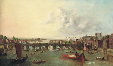 View of the Thames, with Westm