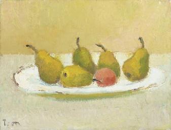 Peren en mandarijn op schaal