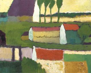 Kleurige boerderijtjes