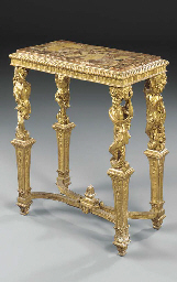 A NORTH EUROPEAN GILTWOOD SIDE