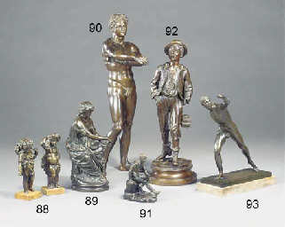 AN ITALIAN bronze model of the