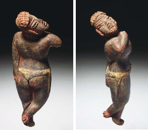 AN OLMEC/TLATILCO DANCING FIGU