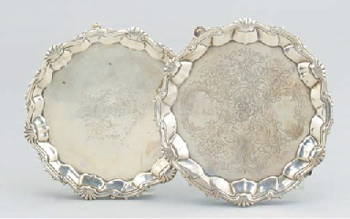 TWO DIFFERING GEORGE II SILVER