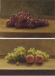 Grapes; and Grapes and Peaches