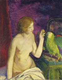 Nude with a Parrot