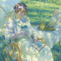 Lady in the Sunshine Reading