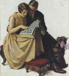 Young Couple Looking at a Cata