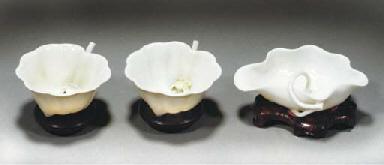 A pair of blanc de chine flute