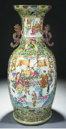 A large Cantonese vase, 19th c
