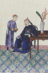 Four paintings on ricepaper, 1