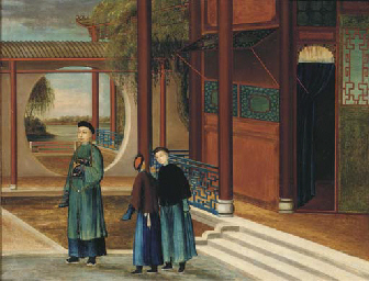 An export oil painting, early