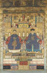 An ancestor painting, 18th cen