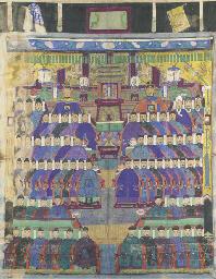 A large group ancestor paintin