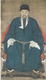 An ancestor portrait in ink an