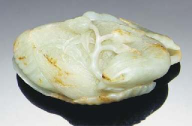 A large celadon jade carving o