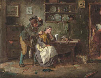The lace maker; and A tickle u