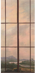 Trompe l'oeil of a window with
