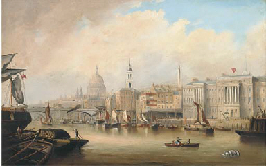 View down the Thames, with Bla