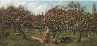 The sunlit orchard