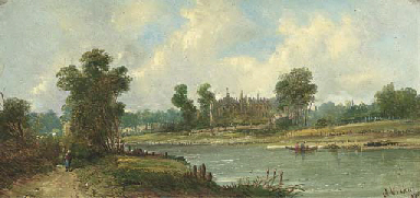 Eton College from the Thames