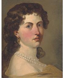Portrait of a lady, small bust