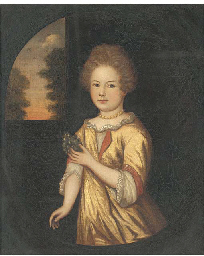 Portrait of a young girl, thre