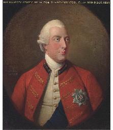 Portrait of King George III, h