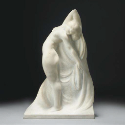 A marble figure
