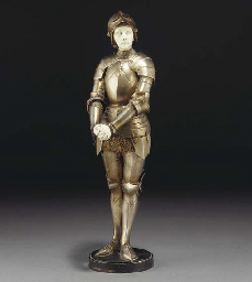 'Jeanne D'Arc' a silvered and