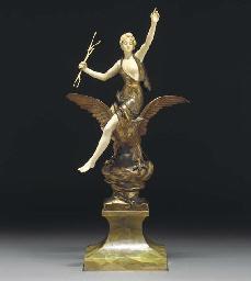 'Hors Concours' a gilt bronze