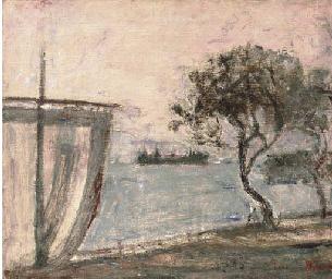Paesaggio con vela: lago d'Ise