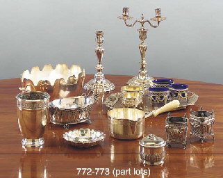 A QUANTITY OF SILVER, SILVER PLATE AND METALWARE