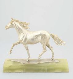 A DUTCH SILVER HORSE