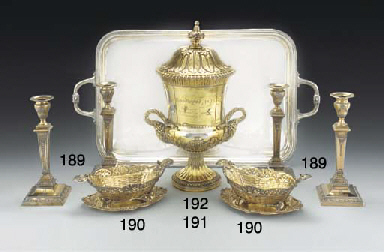A SET OF FOUR VICTORIAN SILVER