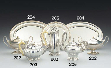 A GEORGE IV SILVER TEAPOT AND