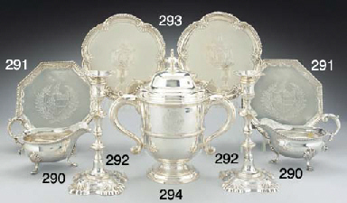 A PAIR OF GEORGE III SILVER SA